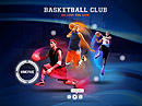Basketball club Dynamic Flash Template