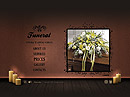 Funeral Service - Easy flash templates, EASY FLASH website templates