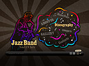 Jazz Band - Easy flash templates, Band website templates