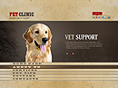 Pet Clinic - Easy flash templates, SOCIETY FLASH website templates
