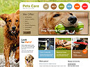 Pet Care - HTML template, Animals & Pets flash templates